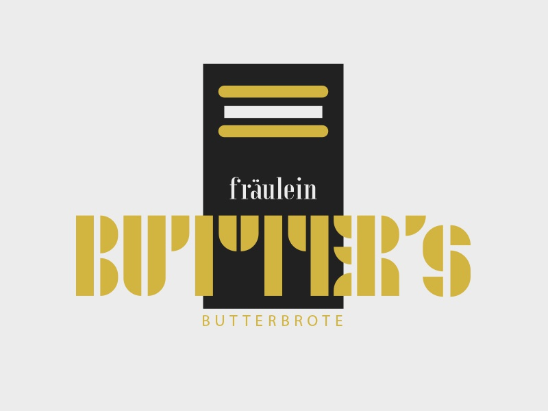 Fräulein Butter's Butterbrote adobehiddentreasures butterbrot brot stulle snack bar diner bread butter illustration bauhaus logo