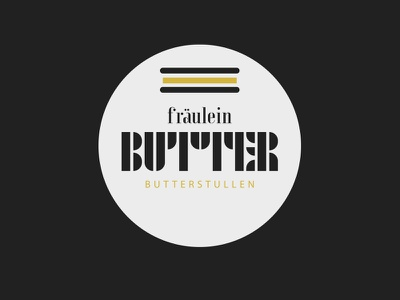 Logo Fräulein Butter logo bauhaus illustration butter bread diner snack bar stulle brot butterbrot adobehiddentreasures