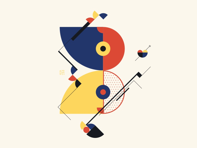 Bauhaus - B design typography iampommes bauhaus100 bauhaus pommes vector illustration 36days-b 36daysoftype 36 days 36 days of type