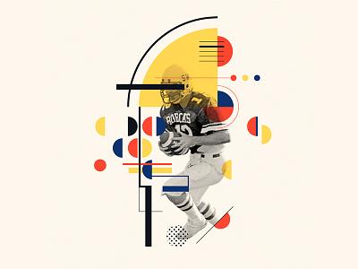 Bauhaus - F bauhaus100 bauhaus font typography design f graphic pommes illustration iampommes collage football 36days-f 36 days of type 36 days