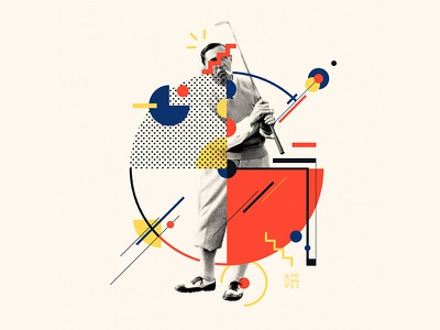 Bauhaus - G collageart collage design lettering font iampommes typography pommes 36 days of type 36daysoftype 36days-g golf bauhaus100 bauhaus vector illustration