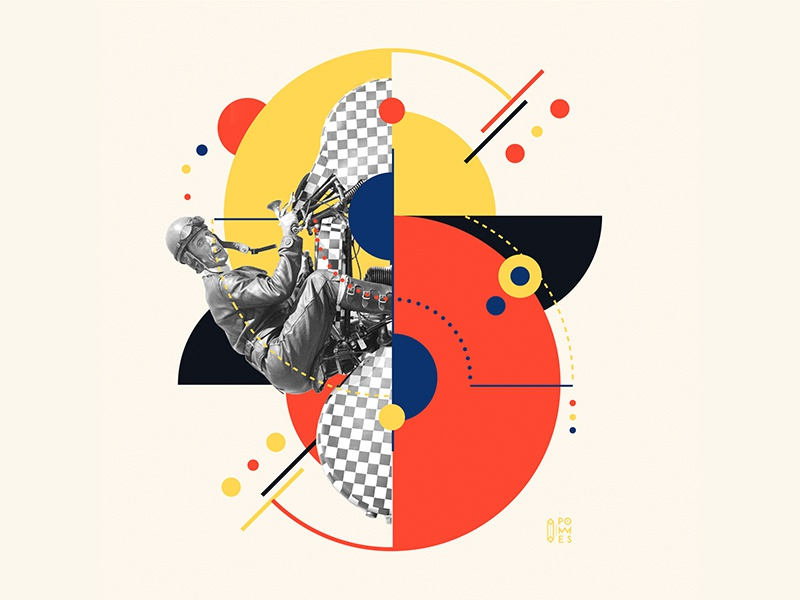 Bauhaus - S 36days-s collageart collage bauhaus100 bauhaus vintage letter 36daysoftype design graphic 36 days of type mannheim iampommes typography pommes vector illustration