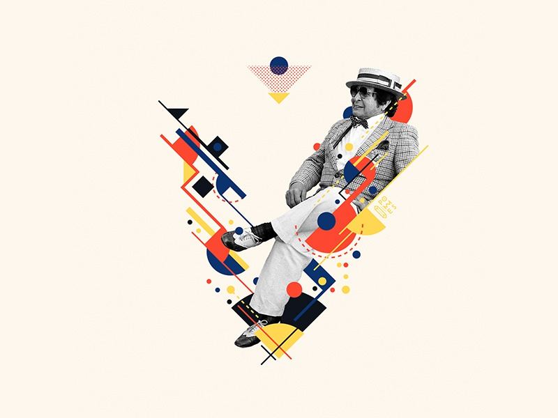 Bauhaus - V graphicdesigner 36days-v abstract retro collage vintage bauhaus100 bauhaus 36daysoftype design graphic 36 days of type mannheim iampommes typography pommes vector illustration