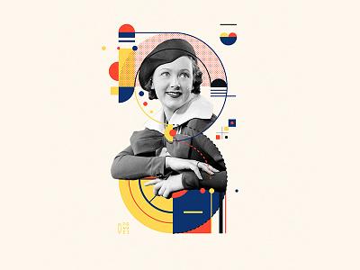 Bauhaus - 3 fashion letter collage 36days-3 36daysoftype bauhaus100 bauhaus design graphic 36 days of type mannheim iampommes typography pommes vector illustration