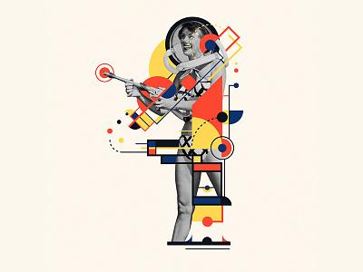 Bauhaus - 4 letter 4 collage 36days-4 bauhaus100 bauhaus 36daysoftype design graphic 36 days of type mannheim iampommes typography pommes vector illustration