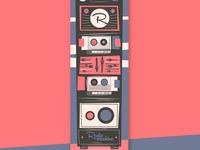 Radio machine skateboard design