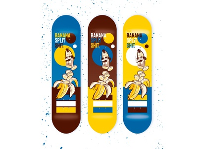 Some banana split shit skateboard graphic