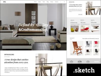 Furniture Website  furniture web ui design website
