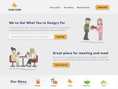 Food Zone meeting time webdesign foodzone food and beverage website ui ux web design