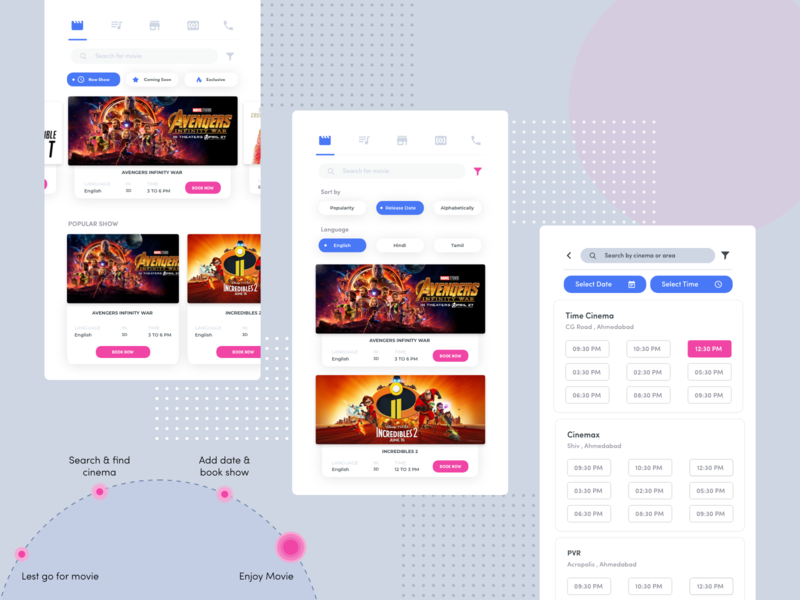 Movie Ticket Booking booking ticket movie ticket movie ticket booking web logo typography illustration android project branding iphone ui ux design