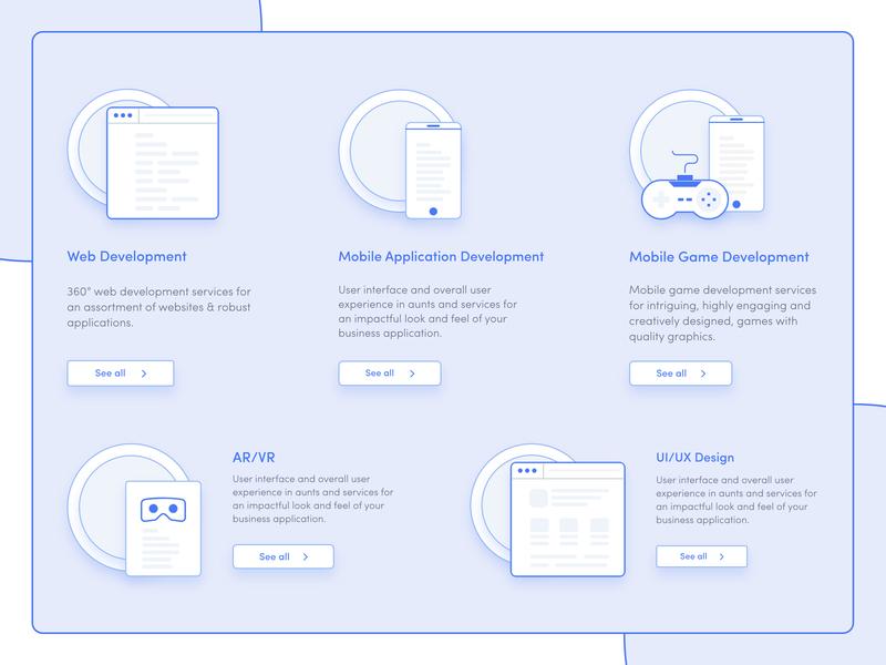 Our Services | Binbytes icon binbytes services vector flat website web ui ux design