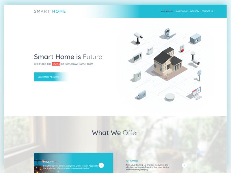 Smart Home | Landing Page ui ux gradient color landing page smart home