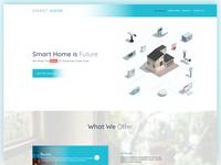 Smart Home   Landing Page ui ux gradient color landing page smart home
