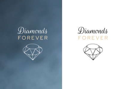 Logo concept design online shop store diamonds fashion jewellery creative branding logo illustration graphic design design