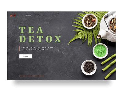 Tea detox & wellness web design plant based healthy lifestyle home page web design ux design tea detox wellness health ux ui design ui webdesign graphicdesign creative graphic design user experience design uidesign uxdesign
