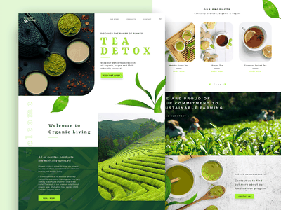 Tea detox website design organic plants green ux designer web design shop health detox wellness tea ux design ui design webdesign graphicdesign creative graphic design user experience design uidesign uxdesign
