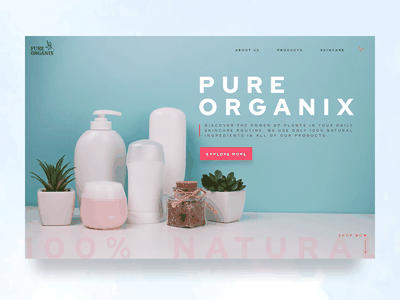 Organic skincare website design II beauty product home page simple design modern plants natural plant based organic beauty skincare branding logo webdesign graphicdesign creative graphic design user experience design uidesign uxdesign