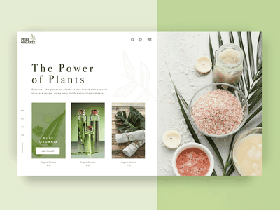 Plant-based skincare landing page design home page landing page healthy natural green beauty product vegan plant based organic beauty skincare branding logo webdesign creative graphic design user experience design uidesign uxdesign