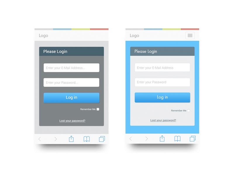 Login form UI design ideas by Davina Spriggs on Dribbble