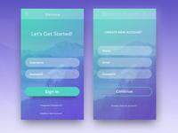 App sign-in UI design