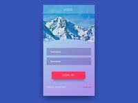 UI design for app sign-in