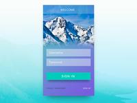 App UI sign-in design