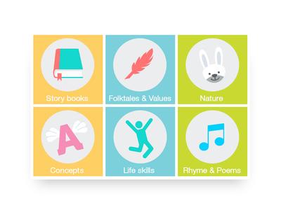 App icon designs mobile app user experience uxdesign uidesign children books reading design illustration