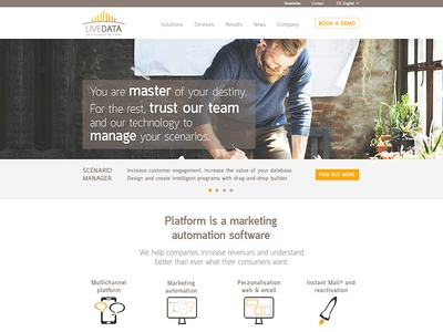 Homepage UI screen technology desktop creative design user experience uxdesign uidesign