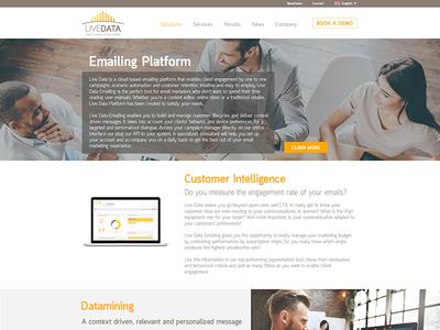 UI landing page screen technology desktop creative design user experience uxdesign uidesign