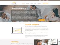 UI landing page screen