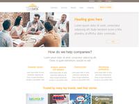 UI landing page design