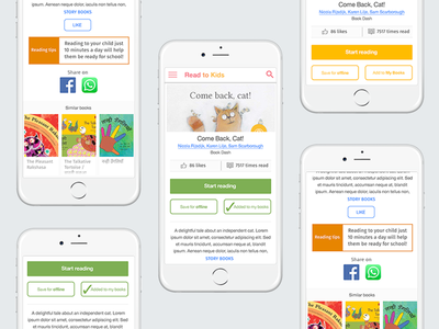 Concept ideas for a reading app books reading library uidesign user experience graphic design uxdesign