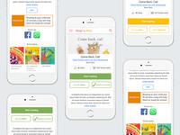 Concept ideas for a reading app
