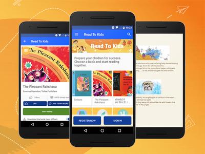 Children's reading app design india books reading readtokids kids children library uidesign user experience graphic design uxdesign