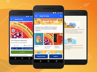 Children's reading app design