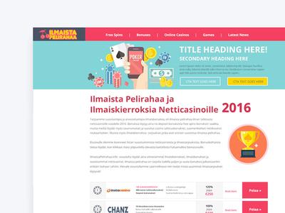 Finnish casino UI design slots igaming finland finnish casino user experience uxdesign uidesign