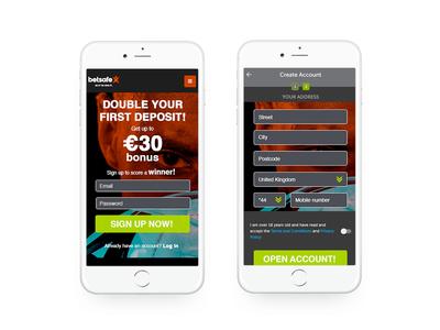 Concept design idea for online casinos design betsafe casino betting gambling igaming user experience ux design ui design