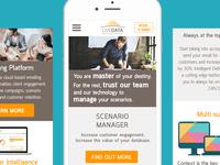 UI design screens for mobile responsive