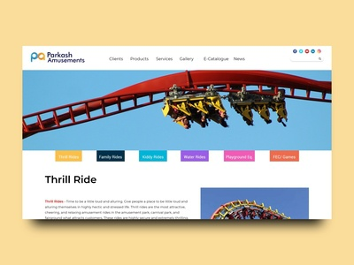 Website Design | Amusement Park behance webdesign amusement park website design dashboad dailyui logo illustration adobeillustator website adobexd ux ui design