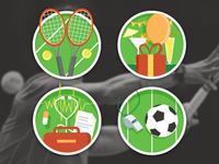 Tennis Team website illustrations