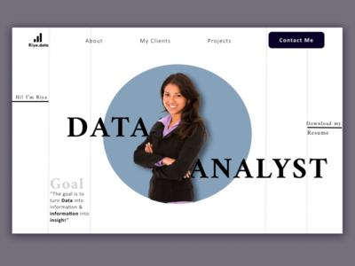 Portfolio Design for Data Analyst portfolio website website webdesign design art portfolio page portfolio site data analyst graph analyst data portfolio design design portfolio