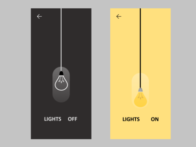 Light ON and OFF animation uxinspiration ui inspiration simple inovative bulb light animation appdesign website design website uidesign figma app designer app design uiux webdesign ux ui