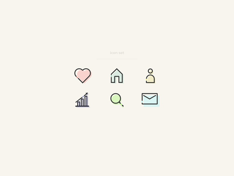 Icon Set | Daily UI 055 adobe xd icon set icon webdesign web design illustration daily ui dailyuichallenge ui minimalistic modern dailyui design