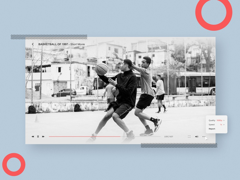 Video Player Element UI | Daily UI 057 video player webdesign web design daily ui dailyuichallenge adobe photoshop ui minimalistic modern dailyui design