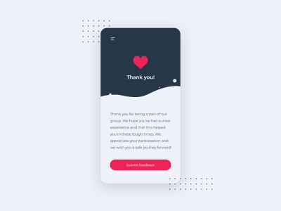 Thank You Design | Daily UI 077 thank you mobile web design daily ui dailyuichallenge adobe photoshop ui minimalistic modern dailyui design