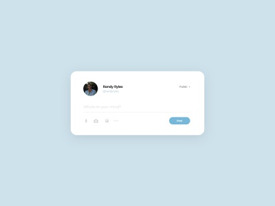 Status Update UI | Daily UI 081 status status update webdesign web design daily ui dailyuichallenge adobe photoshop ui minimalistic modern dailyui design