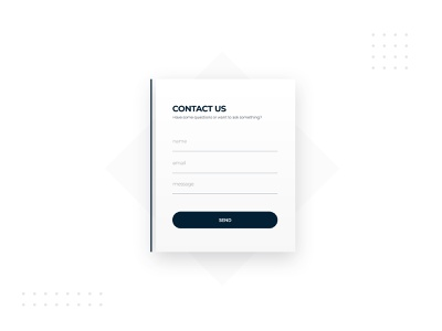 Contact Form Design | Daily UI 082 contact form form webdesign web design daily ui dailyuichallenge adobe photoshop ui minimalistic modern dailyui design