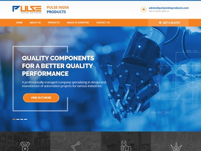 Pulse India industrial industry automobile web ui web design webdesign website ui design