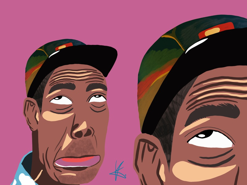 Tyler the Creator emotions hip-hop rap rapper tyler the creator person illustration design colors