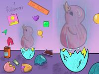 Hyperrealism cyberpunk postmodern chicken hyperrealism illustration design colors